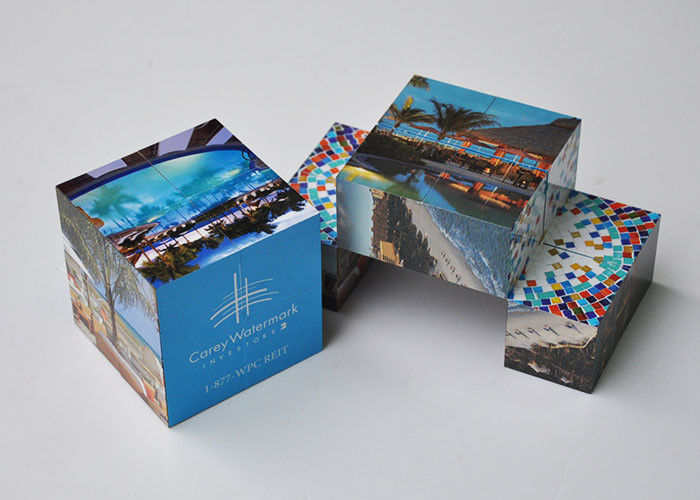 CMYK Printing Promotional Puzzle Cubes Plastic Pp Toy For Advertising