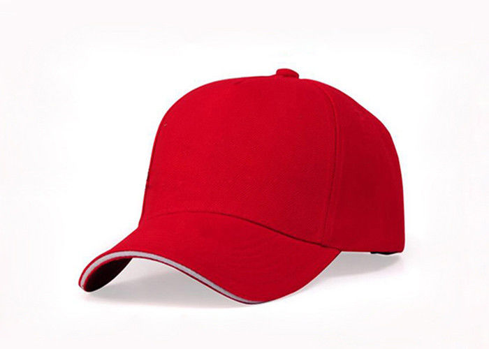 Pure Cotton Fabric Custom Embroidered Baseball Caps With Printing