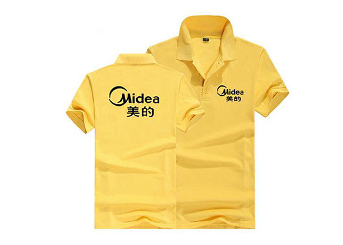 Polyester Breathable Polo Shirts Customized Logo Embroidered