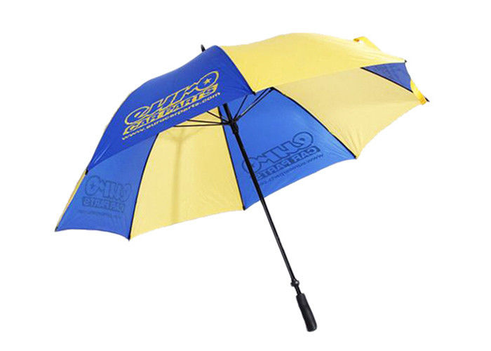 Custom Portable Rain Umbrella 190T Polyester Pongee With Windproof / Windproof