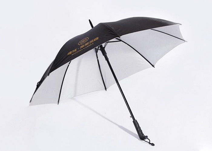 Promotional Portable Telescopic Golf Umbrella Logo Print With Sun Weather
