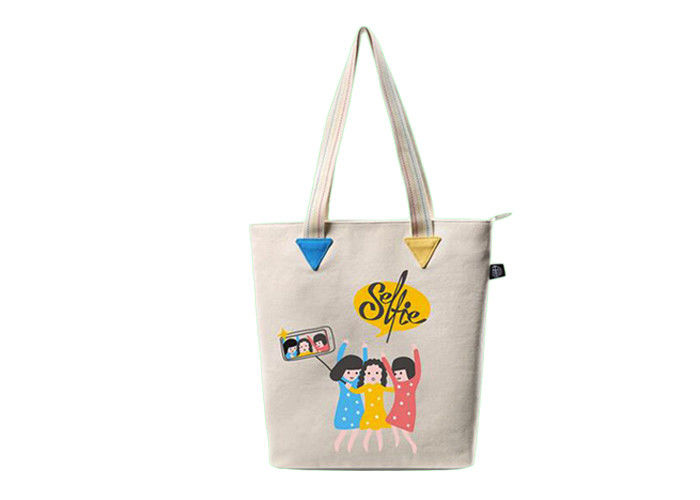 Cotton Fabric Canvas Promotional Shopping Bags Custom Logo For Women