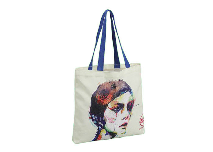 Custom Promotional Shopping Bags Foldable Drawstring With Organic Cotton