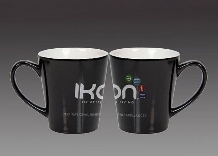 Porcelain 250ml Promotional Ceramic Mugs Grade A White Logo Coffee Mugs