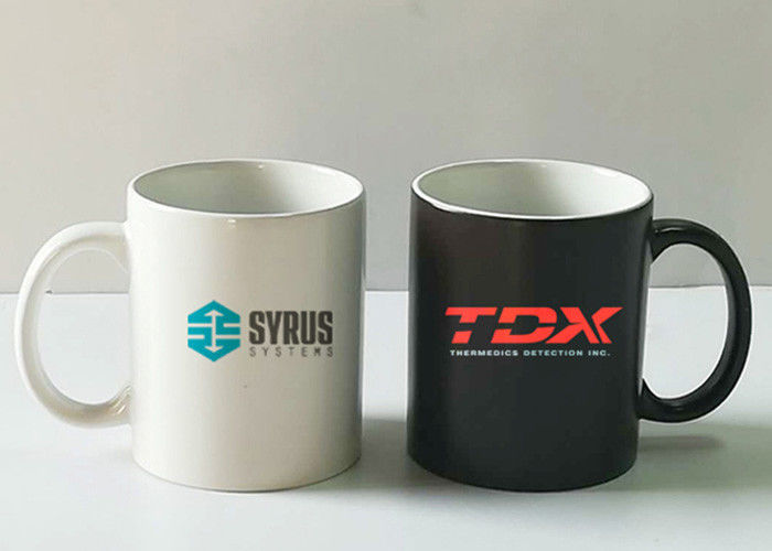 Advertising sublimation printed promotional ceramic mugs with lid