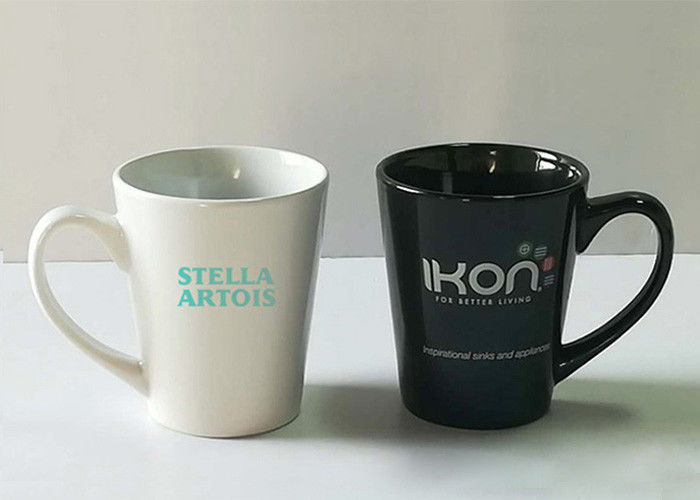 Custom Sublimation Promotional Coffee Cups LOGO Printing With Spoon