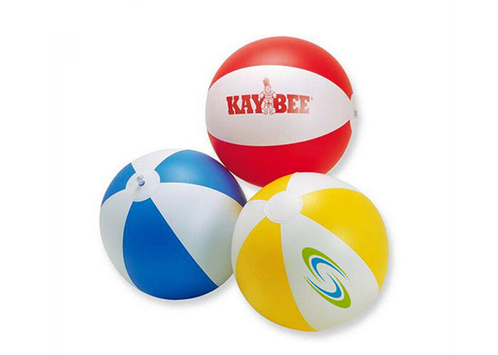 Custom kids inflatable water toys pvc beach ball for promotional gifts