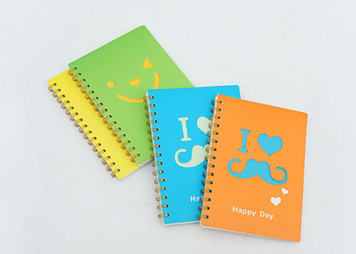 Leather Cover Promotional Spiral Notebooks Personal Journal Books With Pen