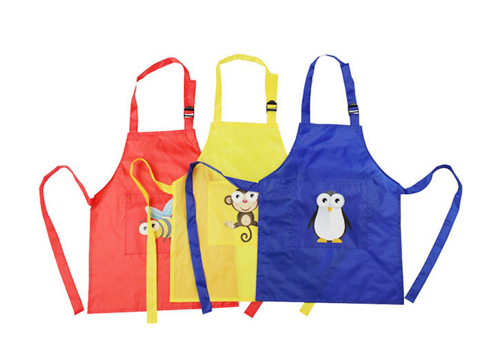 Plastic Waterproof Promotional Printed Aprons Kitchen Personalised Cotton Apron