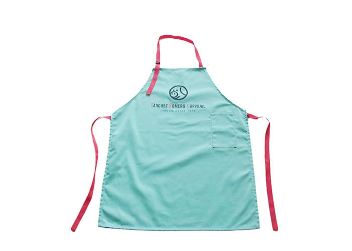 Plastic Pvc Waterproof Promotional Printed Aprons For Chef / Waiter