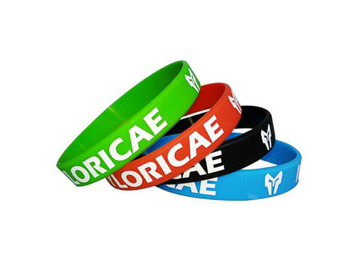 Full Color Custom Silicone Wristbands Soft Adjustable Promotional Rubber Bands