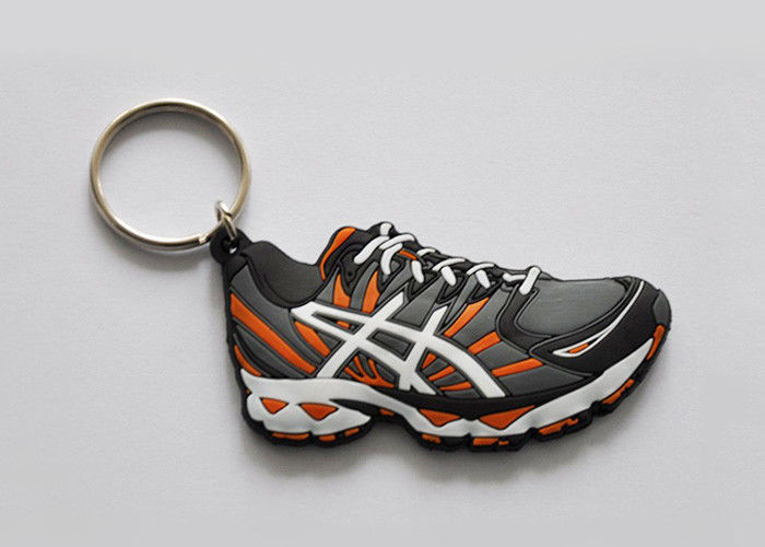 Custom 3D Soft Rubber Keychain Souvenir 100% Silicone Promotional Key Rings